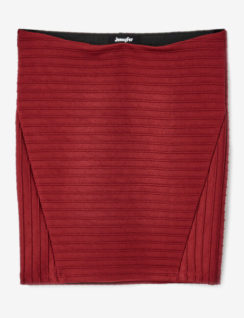 jupe tube courte bordeaux