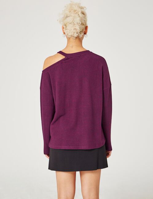 Purple top with cut-out detail