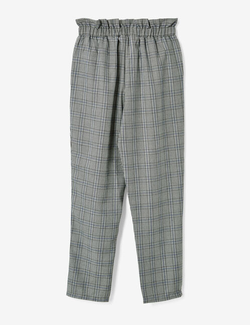 pantalon prince de galles gris