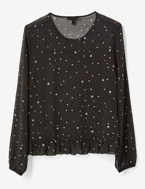 blouse avec étoiles noire