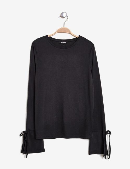 tee-shirt manches évasées noir