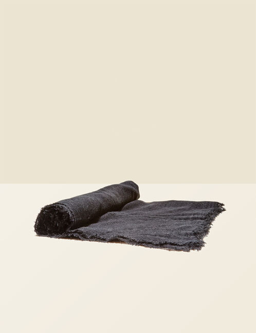 Black lightweight scarf