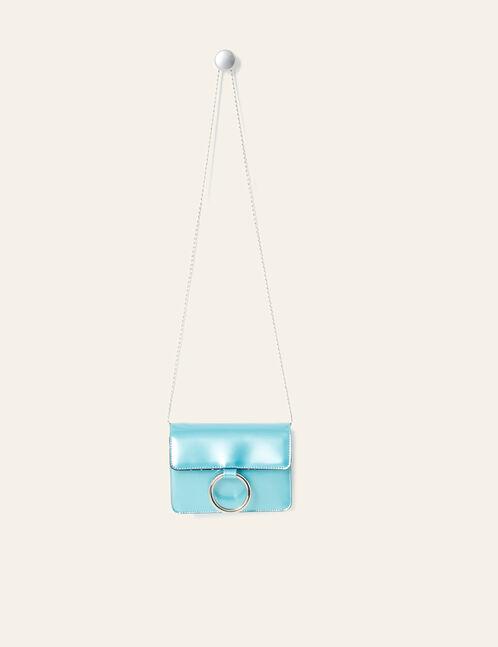 petit sac irisé bleu