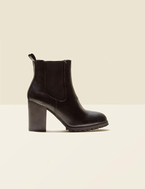 bottes à talons noires