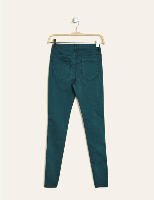 pantalon skinny taille basse émeraude