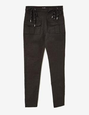 pantalon avec laçages noir
