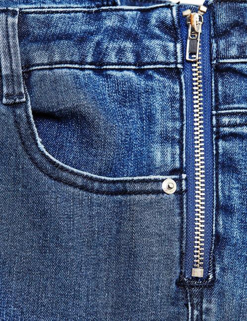 Dark blue dungarees with zip detail