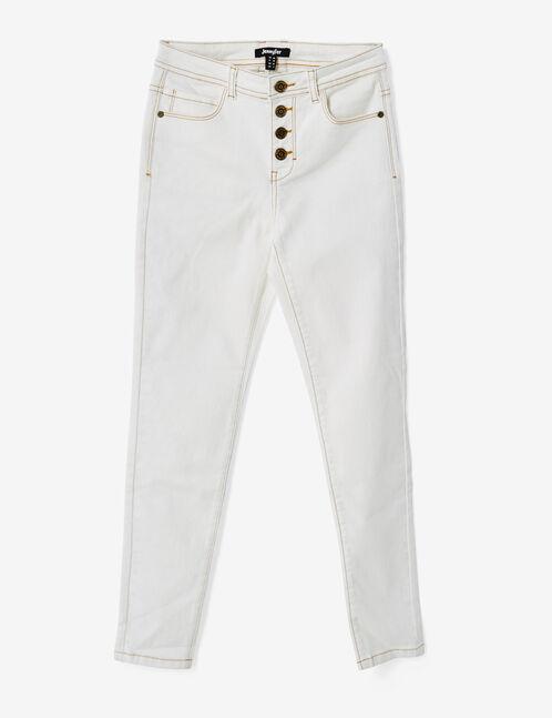 pantalon 7/8eme taille haute écru