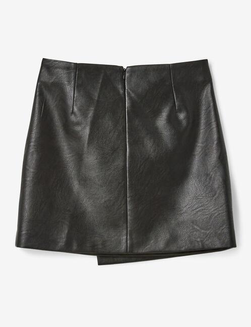 jupe avec zip déco noir