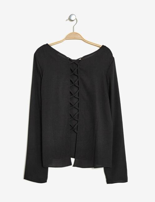 blouse avec laçage dos noire