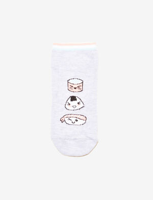 chaussettes sushis gris