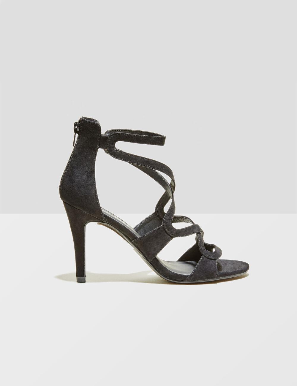 Jennyfer Sandales à talons noir - Chaussures Escarpins Femme