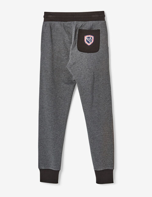 Charcoal grey marl slim-fit joggers