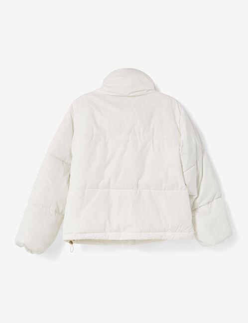 Cream oversized padded jacket