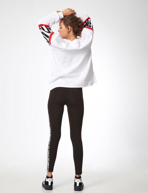 legging noir bandes côtés