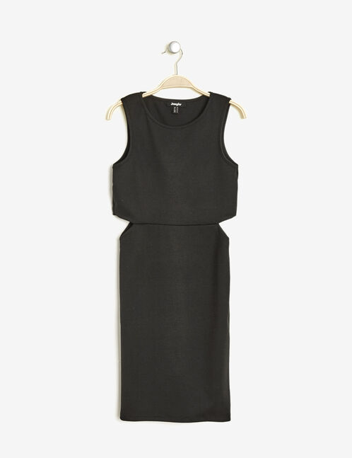 robe ajustée avec découpes noire