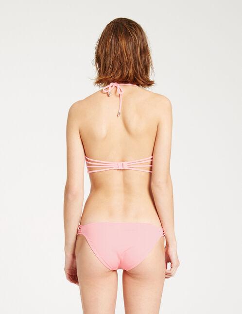 Light coral balconette bikini top