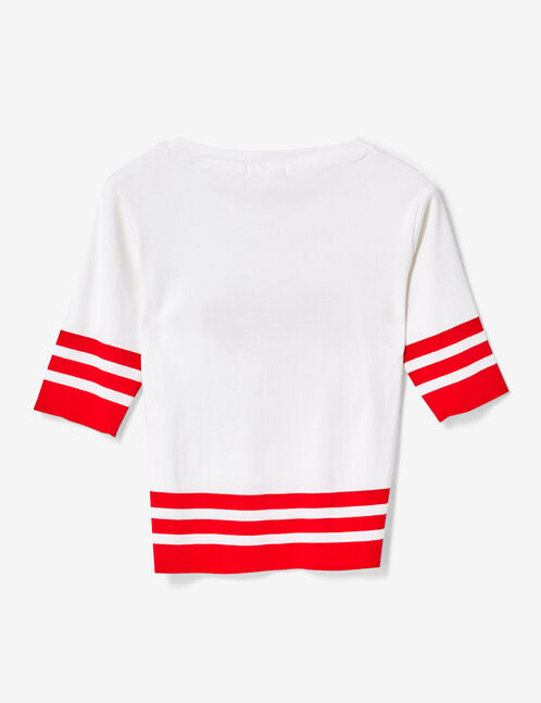 tee-shirt lucky blanc et rouge