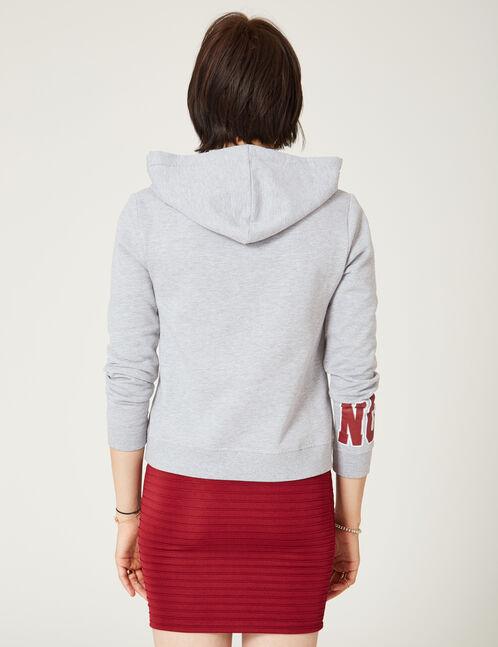 """Grey marl """"yes"""" print hoodie"""