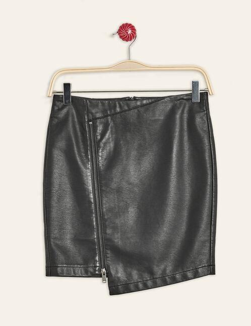 Black zip detail skirt