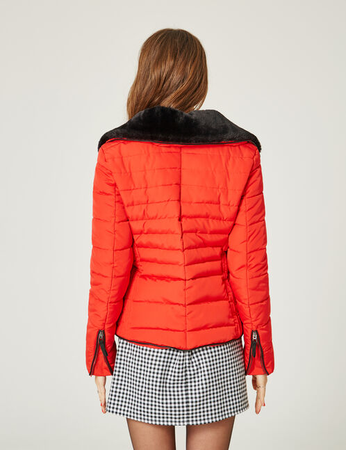 doudoune avec zips rouge