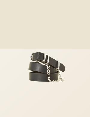 ceinture avec chaînette noire