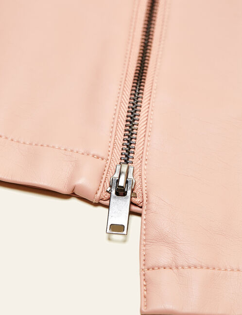 jupe zippée rose clair