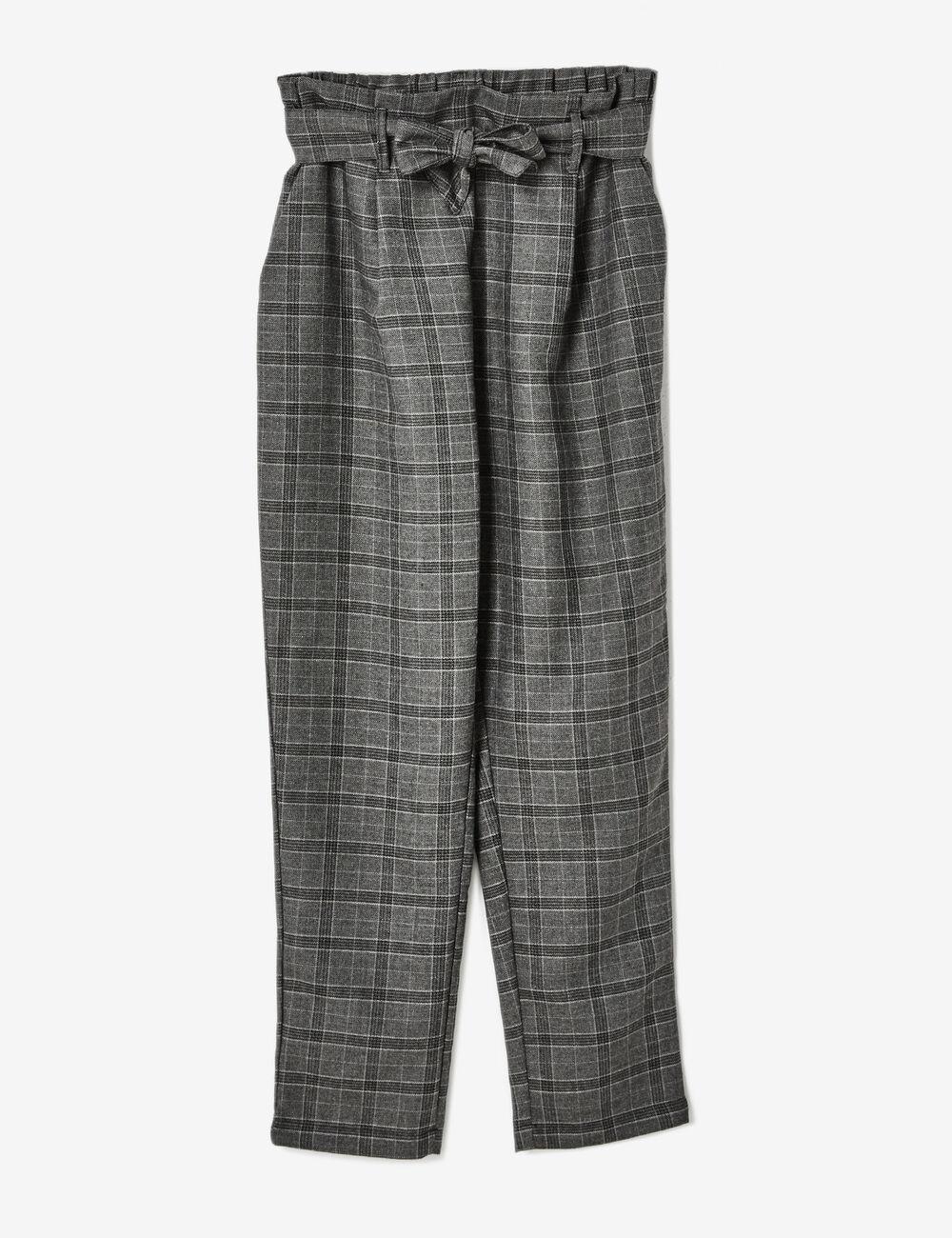 Pantalon carreaux noir et gris femme jennyfer for Pantalon a carreaux