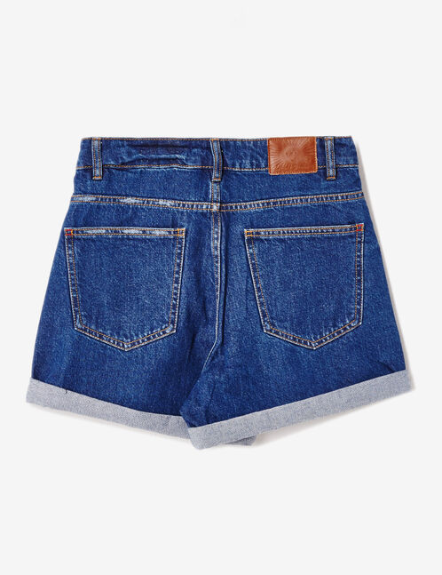 short en jean avec revers medium blue