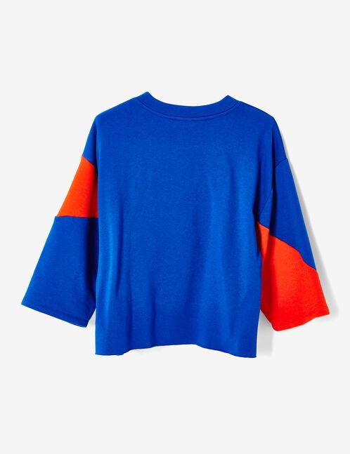 sweat michigan bicolore rouge et bleu