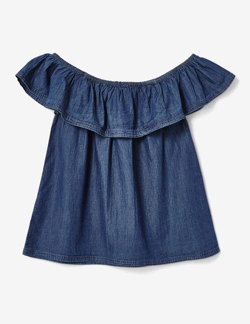 top épaules dénudées  medium blue