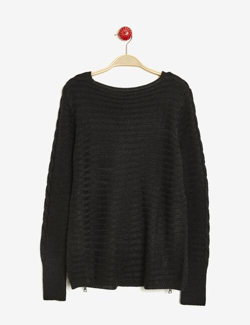 Black zip detail jumper
