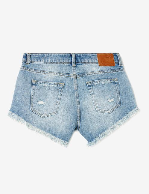 short avec pompons bleu clair