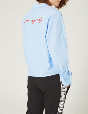 Blouse Avec zip bleu clair