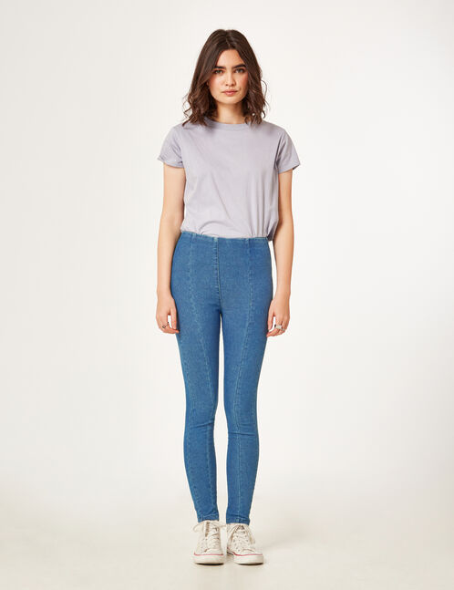 Medium blue ripped jeggings