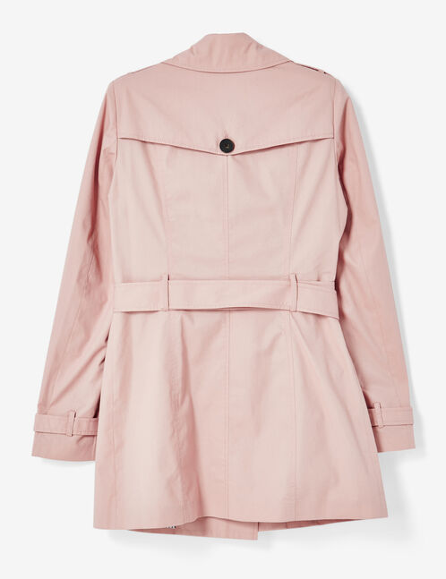 Light pink trenchcoat