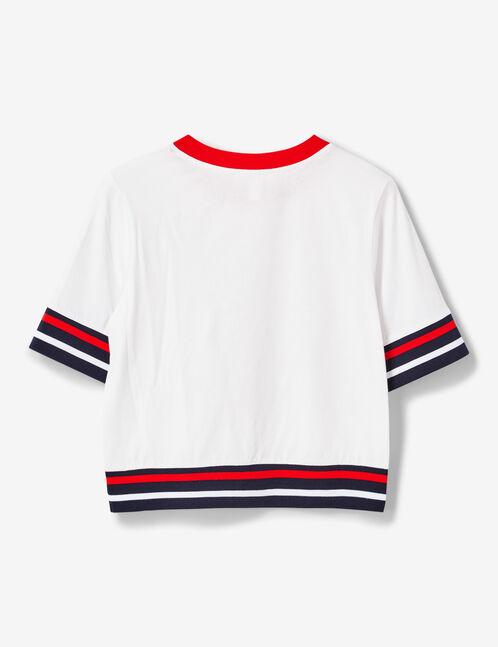 tee-shirt finitions rayées blanc