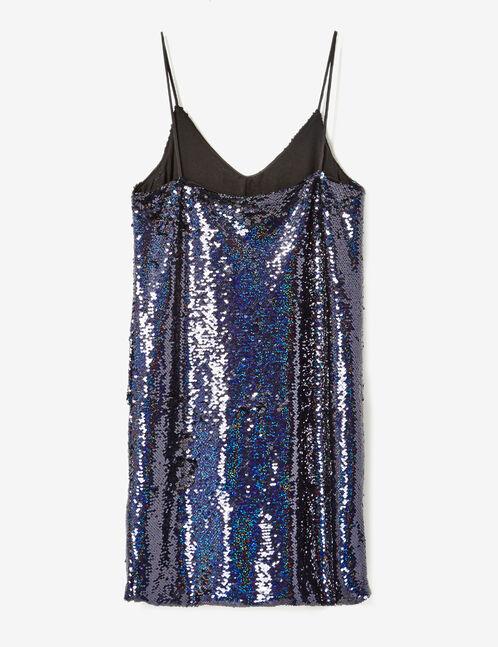 robe en sequins bleu