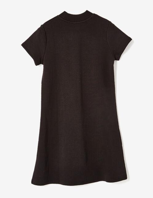 robe trapèze en molleton noire