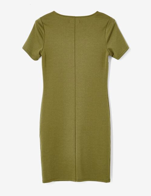 Khaki fitted dress