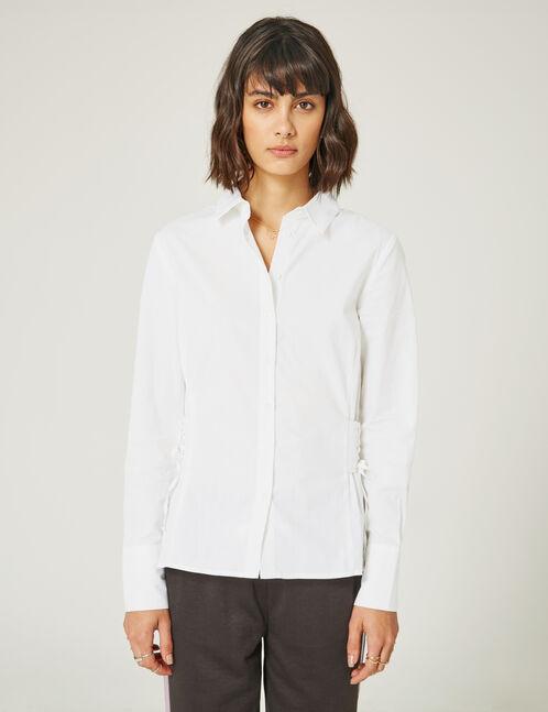 chemise avec laçage côtés écrue