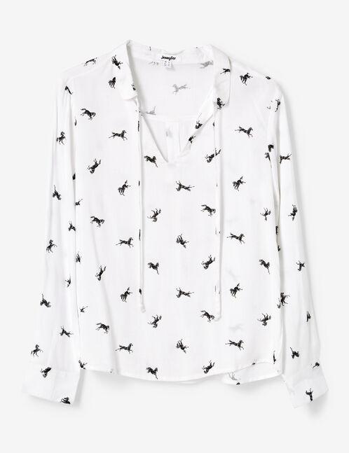 White printed blouse