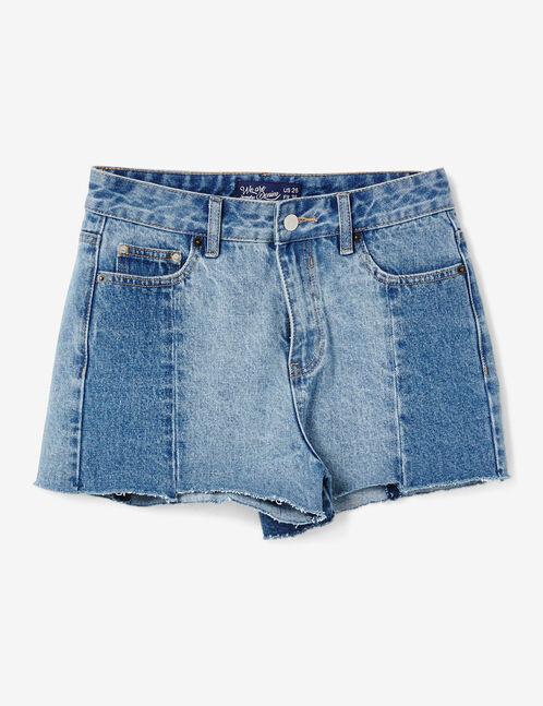 Medium blue shorts with seam detail