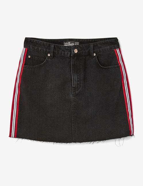 Black skirt with striped trim detail