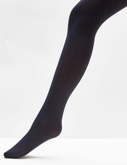 Basic black opaque tights