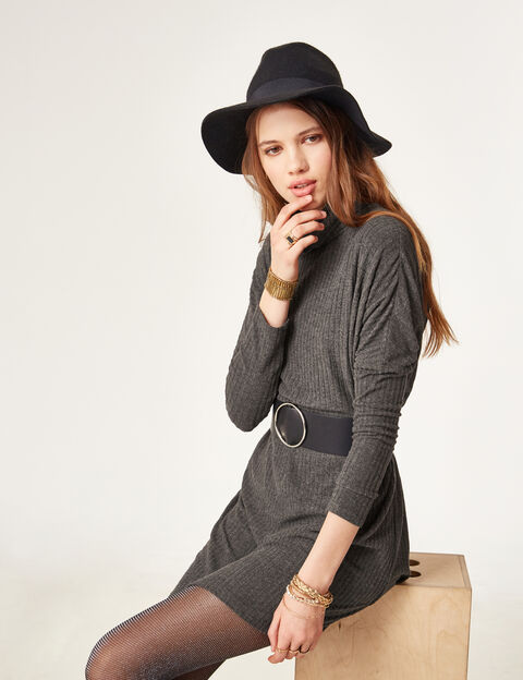 robe femme pull courte patineuse imprim e jennyfer. Black Bedroom Furniture Sets. Home Design Ideas