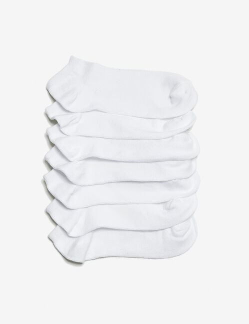 white basic socks