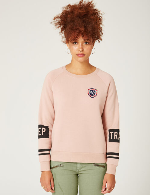 "Light pink ""keep track"" sweatshirt"
