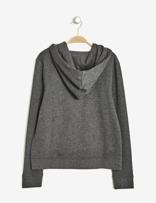 Charcoal grey marl basic hoodie
