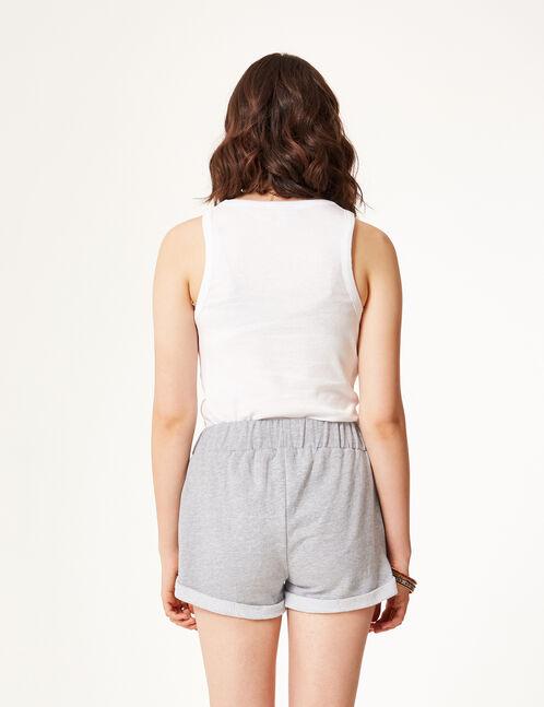 Grey marl jersey shorts